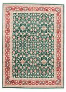 Vintage Hand-knotted Carpet 9'1 X 12'4 Traditional Geometric Wool Area Rug