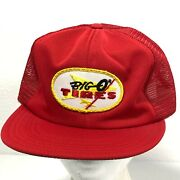 Big O Tires Union Made Usa Vintage 80s Trucker Hat Unitog Red Mesh Snapback Cap