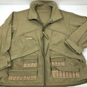Columbia Shooting Hunting Canvas Jacket Size Large Upland Bird Waterfowl Pouch