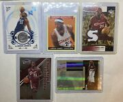 Lebron James Lot 5 Numbered Silver Prizm Refractors Patch Ssp /34 /100 Topps /59
