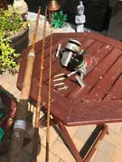 Vintage Fishing Equipment Job Lot - Hardy Reel/spinners/cane Rod + More