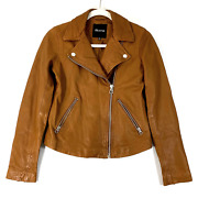 Madewell Sienna Washed Leather Motorcycle Jacket E0488 Womens Size Xs Msrp 498