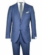 Caruso Flanellanzug In Blue With Fine Pinstripe From Super 120and039s Wool