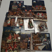 19pc Accessories Santa Sleigh Fire Men And Hydrants Dickens Village Christmas
