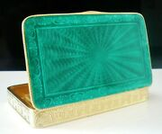 Quality Sterling Silver Guilloche Enamel Box, Continental C.1930's