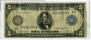 1914 Federal Reserve United States - Five Dollar Currency Large Note - Rc451