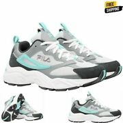 Fila Womens Recollector Athletic Sneaker Running Shoes White Mint Gray Pick Size