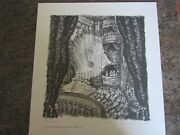 Vintage Caroline Durieux Serigraph Signed Numbered Lithograph Art Ghost