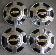 1976/89 Chevy 3/4 Ton Truck 12 Setoand0394 Hubcaps Aluminum Oem Parts Nice