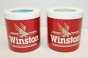 Vintage Winston Cigarette Insulated Soda/beer Can Koozies Lot Of 2 The Fridge