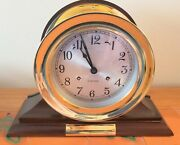 Chelsea Antique Ships Bell Clock With 6 Dial Brass - Mint