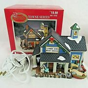 Dickens Collectables Towne Series Lighted Lands End Boathouse 1998 Vintage