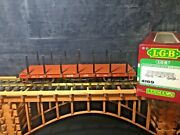 Lgb 4169 Dandrgw Flat Car W/ Stakes Metal Wheels Knuckle Couplers G Scale