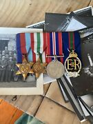 Rnvr Decoration Group Of Medals With Miniature To Intellegence Officer W/photos