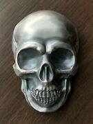 Andfrac12 Kilo 16.075 Oz Antiqued Silver Big Skull From Palau / 537 Of Sold Out L.e.