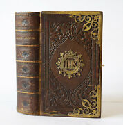 1852 Church Services Hayday Binding, Leather Brass Clasp Old Prayer Bound Book
