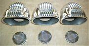 3 Thickstun Carb Scoops Hot Rod Flathead Ford V8 Stromberg Intake Velocity Stack