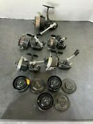 Lot 5 Garcia Mitchell Fishing Reel 306/308a/204/300a/300/ And 3 Spools Vintage