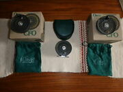 Made In England Orvis Cfo Iv Fly Fishing Reel With 2 Additional Spare Spools