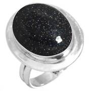 Blue Sunstone Ring 925 Sterling Silver Handmade Jewelry Size 7 Up81164