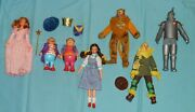 Vintage Mego Wizard Of Oz Lot 2 Of 8-inch Action Figures Munchkins Glinda Witch