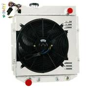 4 Row Radiator Shroud Fan For 1960-1966 Ford Mustang/comet/falcon V8 At 1961 62