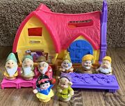Little People Disney Snow White And Seven Dwarfs Cottage Works And Complete