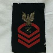 Vintage Military Patch Navy Journalist Cpo Chief Petty Officer Bullion Variant
