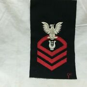 Vintage Military Patch Navy Musician Cpo Chief Petty Officer Bullion Variant