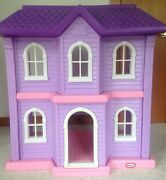 Little Tikes My Size Barbie Pink Doll House Dollhouse Plastic Mansion 3 Ft.