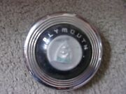 1946 1947 1948 Plymouth Horn Button Cap Nice Chrome Daily Driver Plastic