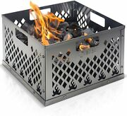 Stainless Steel Charcoal Firebox Basket Grill Accessories For Long Efficient