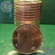20 Donald J Trump-whitehouse Back 1oz .999 Copper Rounds Roll Very Nice Finish
