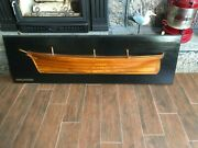 Antique Vintage Large Wooden Half Hull Yacht Ship Model Soverign Of The Seas