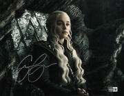 Emilia Clarke Signed Autograph And039game Of Thronesand039 11x14 Photo Beckett Bas Got 13