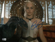 Emilia Clarke Signed Autograph And039game Of Thronesand039 11x14 Photo Beckett Bas Got 14