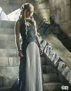 Emilia Clarke Signed Autograph And039game Of Thronesand039 11x14 Photo Beckett Bas Got 16