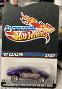Hot Wheels 2012 Mexico Convention '67 Camaro W/ Real Riders Le 37 Of 50 Purple