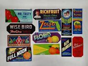 Vintage Original Fruit And Vegetable Crate Labels From Florida Counties