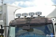 To Fit Isuzu Npr Stainless Steel Roof Bar A + Jumbo Led Spots Lamps + Flush Led