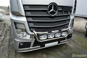 To Fit Mercedes Actros Mp4 Polished Steel Grill Light Bar C + Oval Led Spots X4