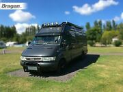To Fit Iveco Daily 2006 - 2014 Black Stainless Steel Roof Bar+jumbo Led Spots