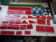 Meccano 80+ Light Red And Green Era Parts - Vg To Excellent Condition
