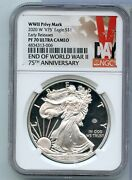 2020-w 1 Oz Silver Eagle Wwii Privy V75 Early Release Ngc Pf70 Cameo - Rc486