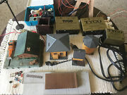 Lot Vintage Tyco Transformers And Misc Toy Train Parts.