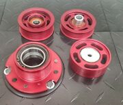 M113k Amg Mercedes Red 77mm Supercharger Pulley And 3 Piece Idler Kit Bundle