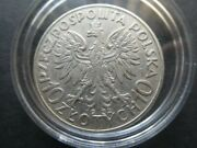 Poland 1935 10 Zlotych Joseph Pilsudski Solid Silver Coin In Capsule Nice Coin