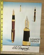 S.t. Dupont 1996 Fountain Pens Vintage Print Ad Advertisement