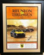 Reunion At Terlingua Framed Poster Certified Carroll Shelby Autograph