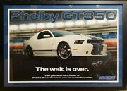 Carroll Shelby Gt350 Framed Poster Certified Autograph